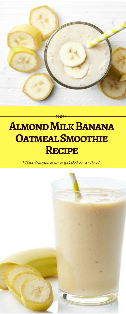 Banana Oatmeal Smoothie Recipe #drinks #bananasmoothie