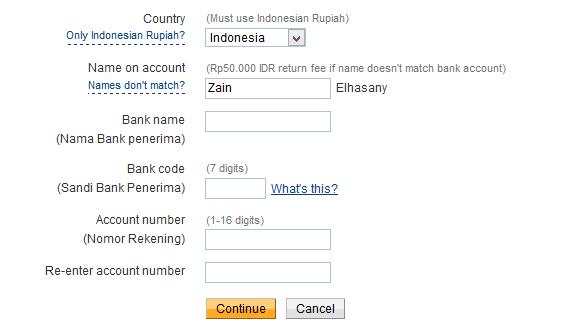 Transfer Uang PayPal Ke Bank Indonesia