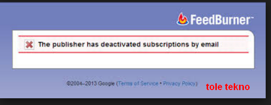 The Feed Does Not Subscriptions By Email Enable