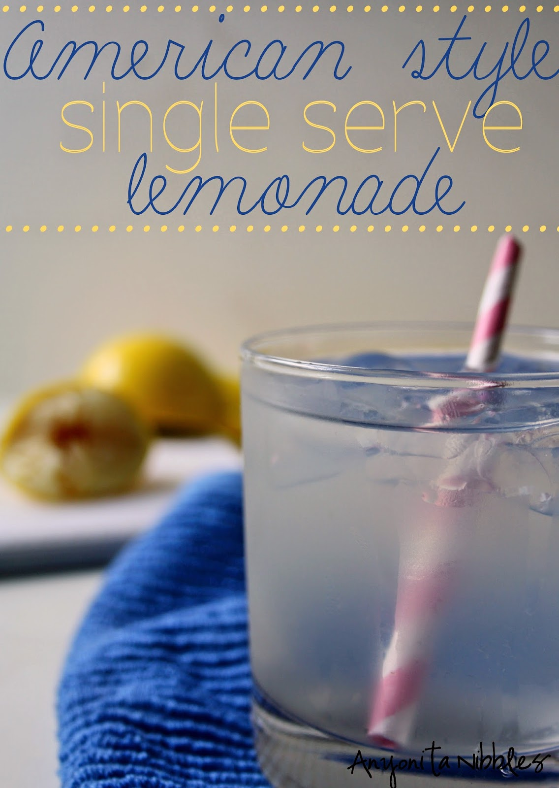 Make this perfect homemade lemonade for one when you need a quick, refreshing drink! From Anyonita Nibbles