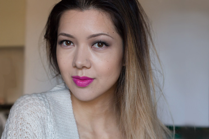 pixi beauty mattelustre lipstick in plum berry and pure fuchsia review