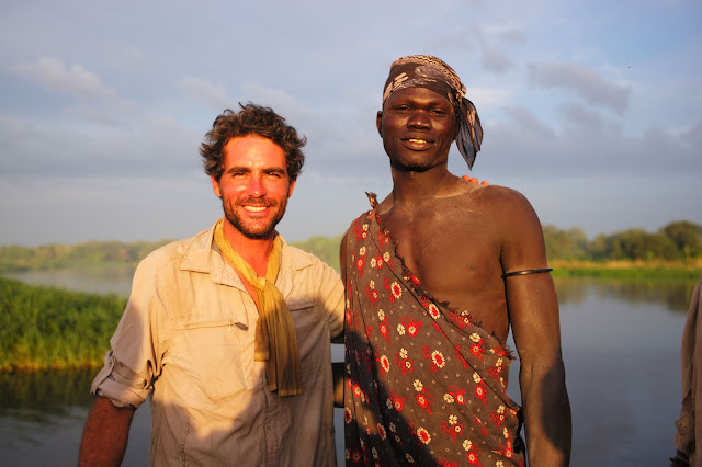Lev and Sirillo - a Mundari Tribesman, South Sudan.