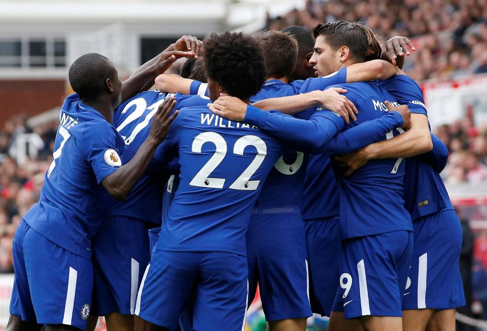 Morata scores hat-trick as Chelsea thump Stoke 4-0