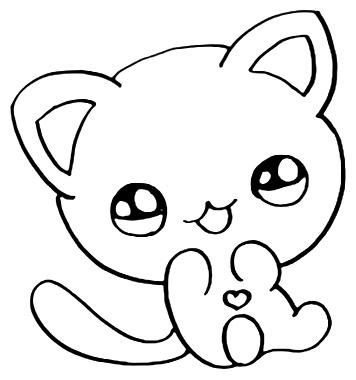 Desenho De Gato Para Imprimir E Colorir
