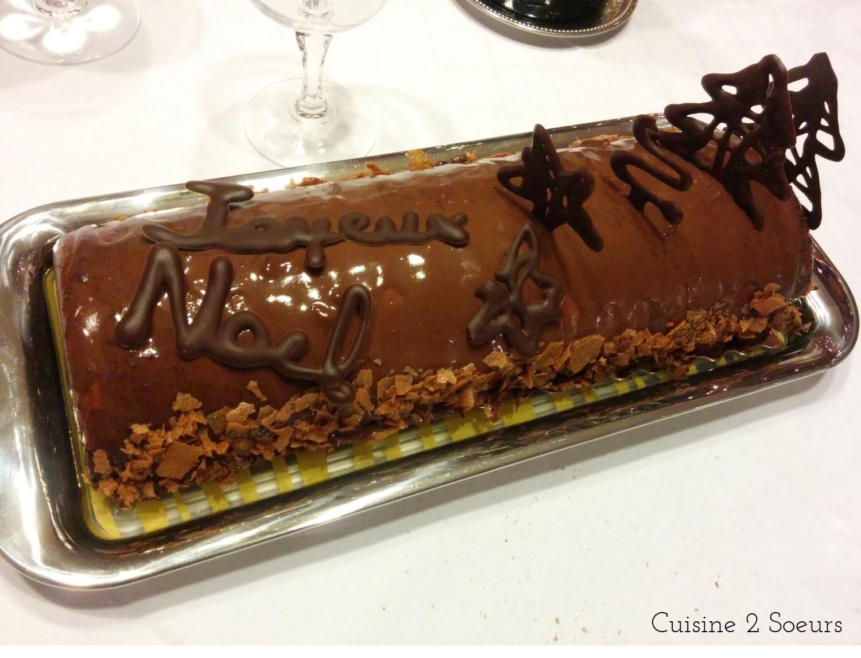 Buche de noel au chocolat pour 12 personnes