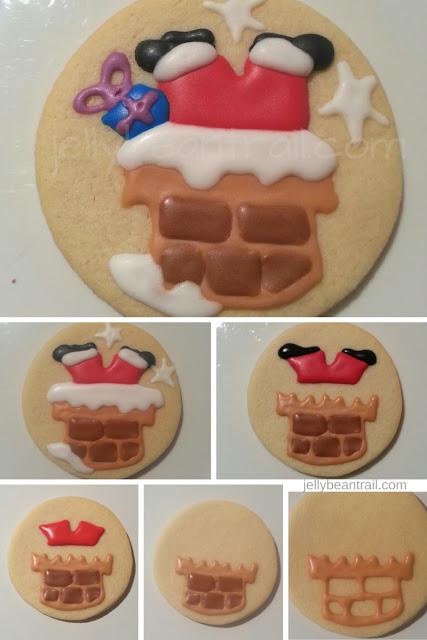 Santa cookie tutorial