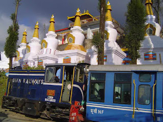 Darjeeling diesel engine toy train near Sonada Monastry