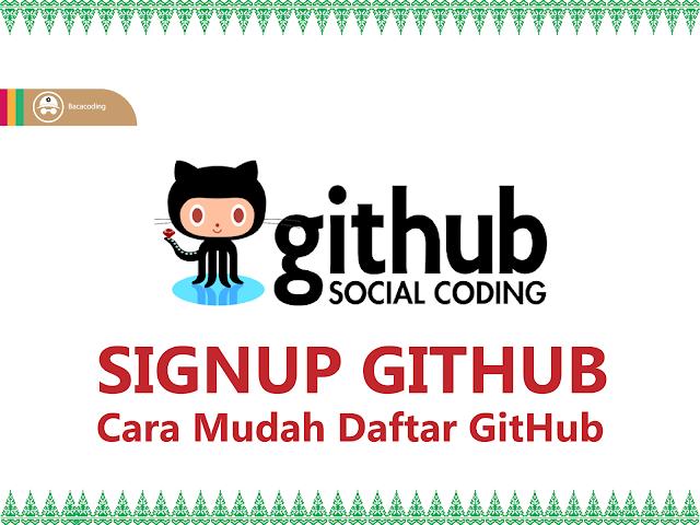 Cara Mudah Daftar GitHub