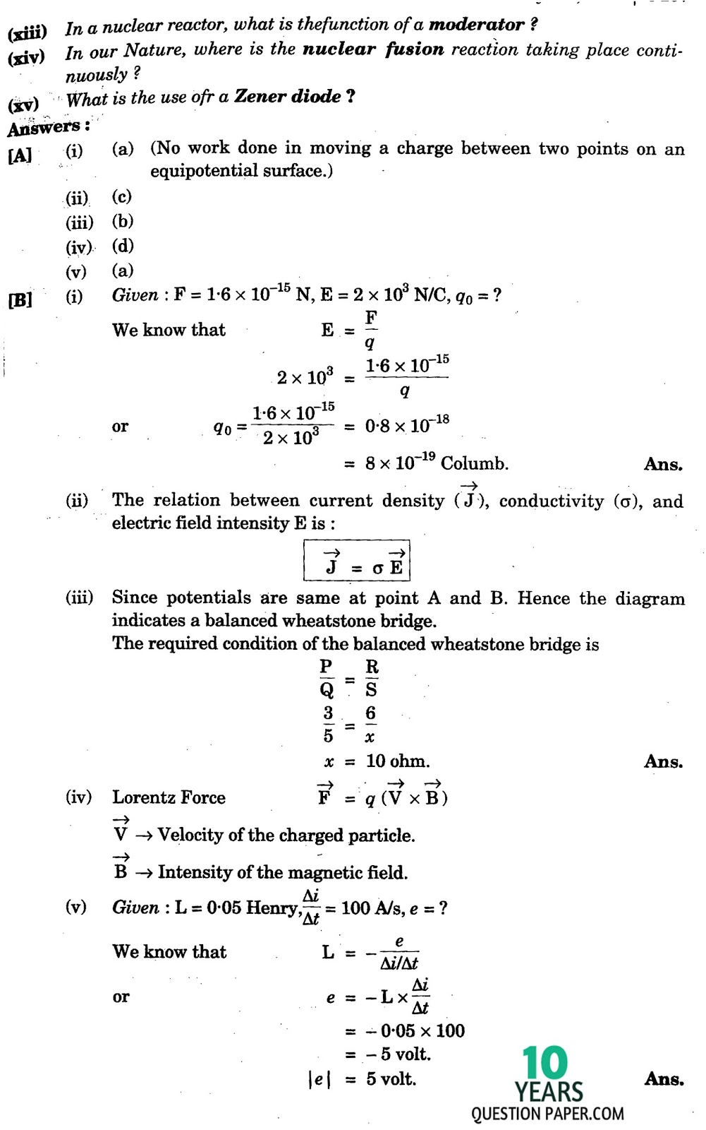 isc physics solved paper years question paper isc 2016 class 12th physics paper solved