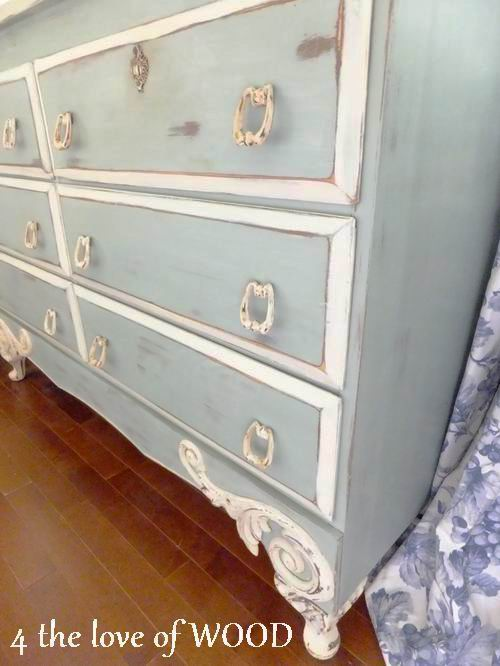 4 The Love Of Wood French Blue Chalk Paint Diy Painted