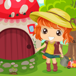Games4King Cute Girl Rescue From Garden House