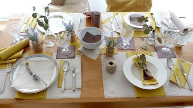 Cómo decorar la mesa de forma especial, delicada y sostenible