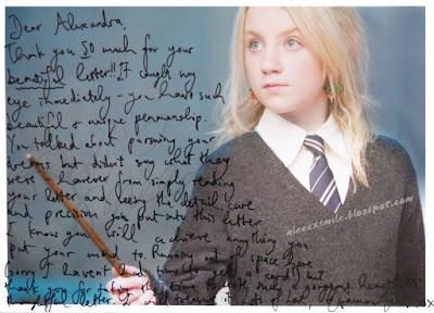 Evanna Lynch original  autograph, autograf, VV, Aleeex Smile Harry Potter