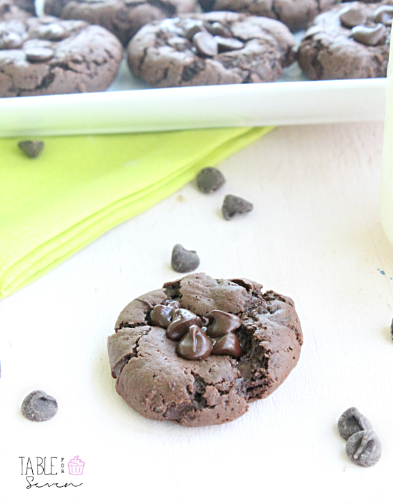 Double Chocolate Cracked Cookies