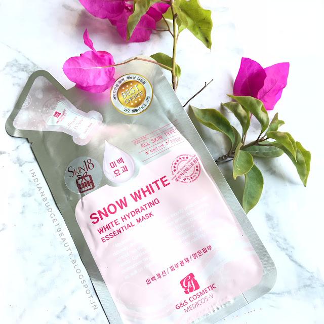 Medicos-V SNOW WHITE White Hydrating Essential Mask REVIEW ft. Skin18.com