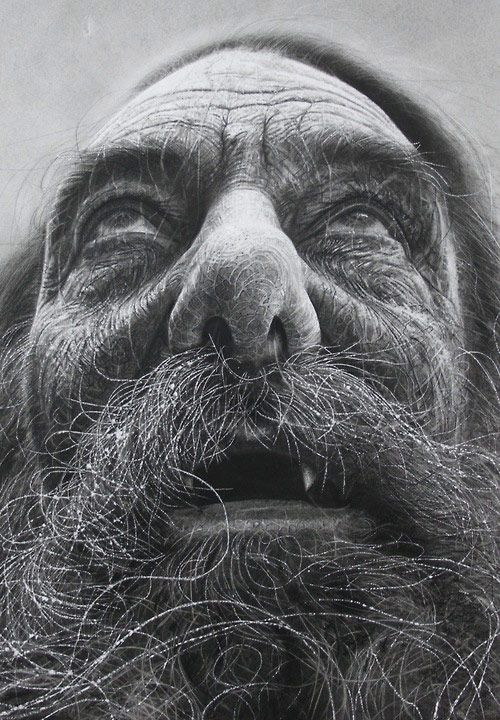 Realistic Charcoal Drawing