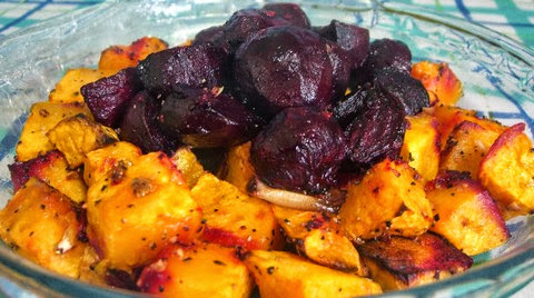 Roasted Beetroot and Pumpkin with Cumin and Pepper