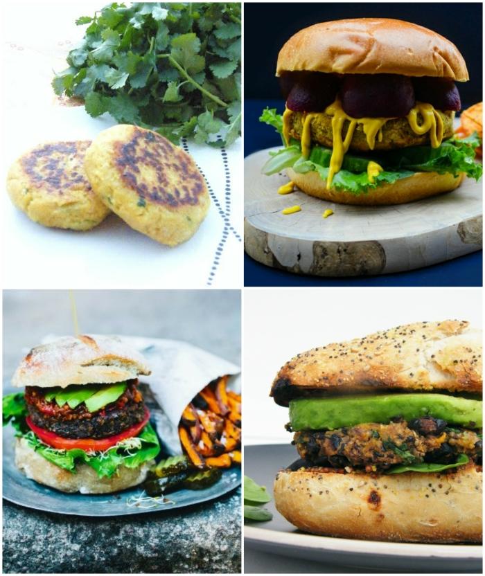 4 homemade veggie burgers
