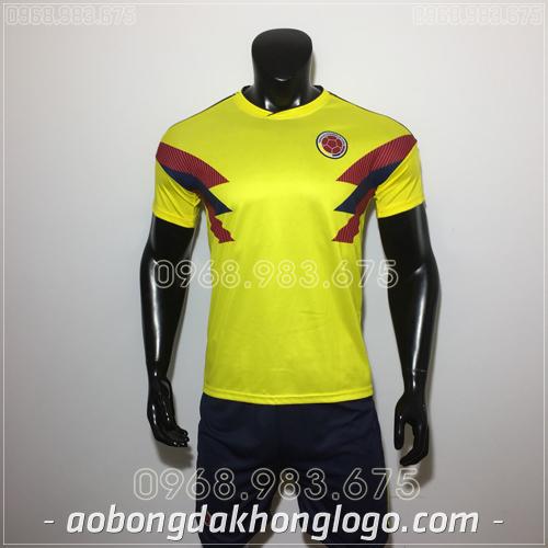 Áo Bóng Đá Đội Tuyển Colombia Vàng 2019