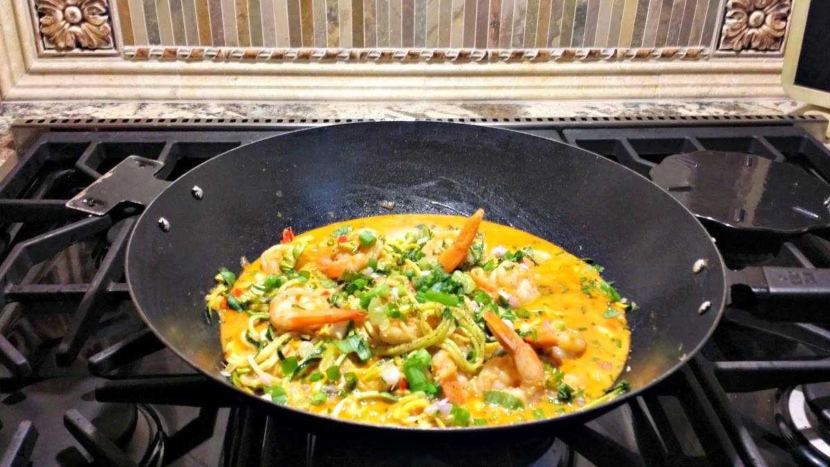 Curry Shrimp with Vegetable Noodles   Life and Linda