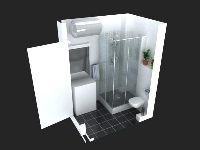 l renov tous implantation salle de bain moins de 2m. Black Bedroom Furniture Sets. Home Design Ideas