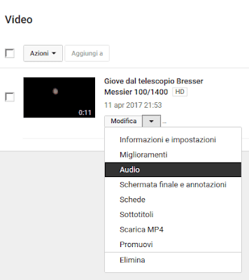 Aggiungere colonna sonora a video youtube