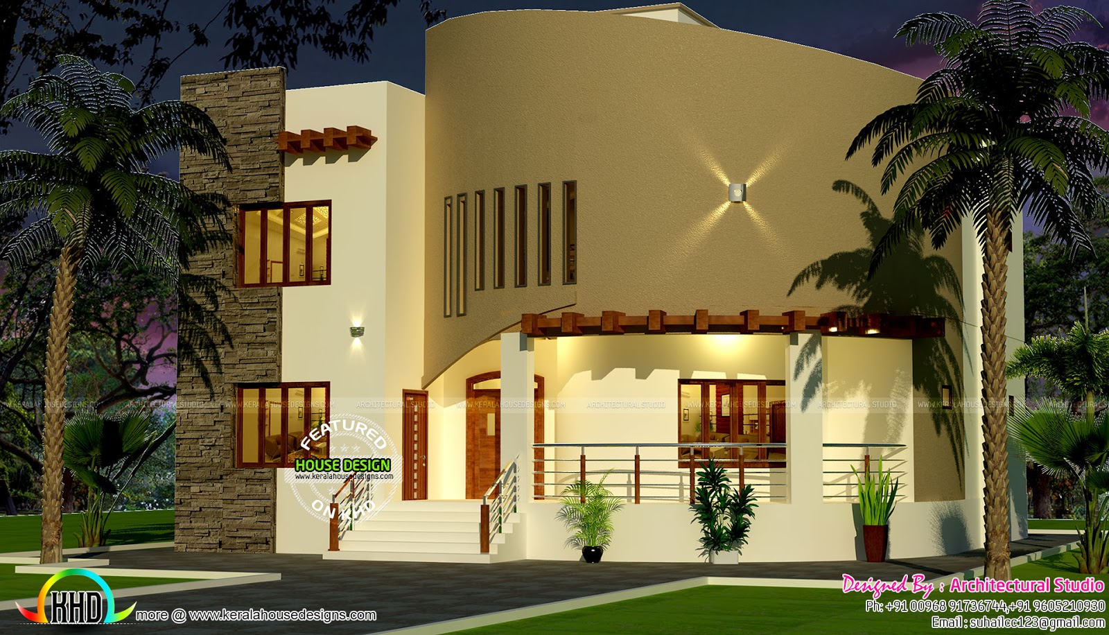 2691 sq ft arabic model home kerala home design and for Arabic home design