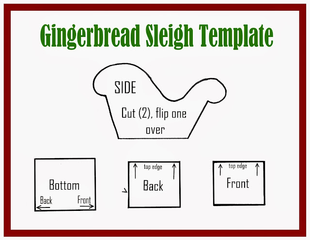 How to make decorated Gingerbread sleigh