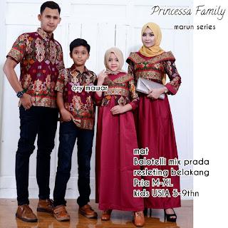 Batik Couple Sarimbit Keluarga Princessa