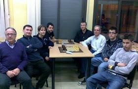 Jugadores del primer equipo del Club Ajedrez Mollet