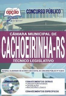 Apostila Câmara Municipal de Cachoeirinha/RS - Técnico Legislativo