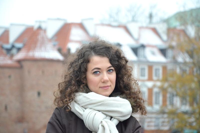 Warszawa, zima, blog, biały szalik, Reserved, kurtka H&M, stylizacja, outfit, jesień