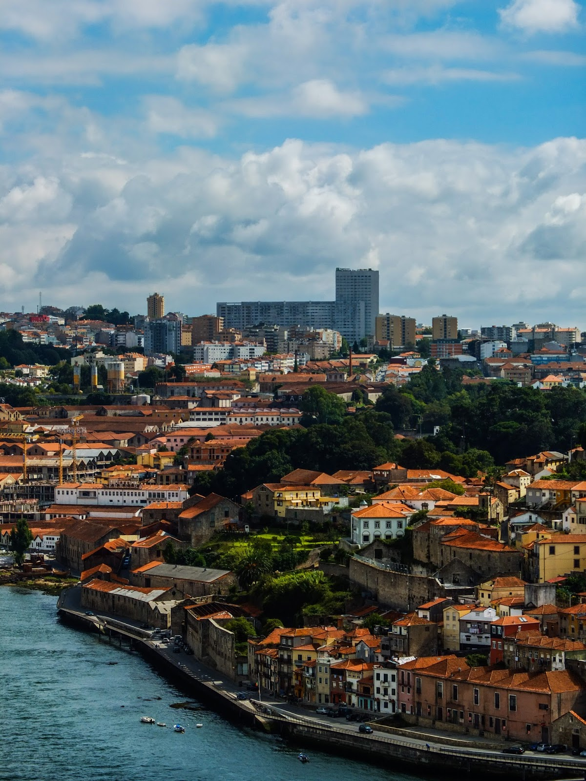 Terracotta roof buildings along the river Douro in Porto, Portugal.