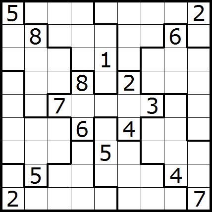 graphic regarding Jigsaw Sudoku Printable named Paras Puzzle Website: 2013