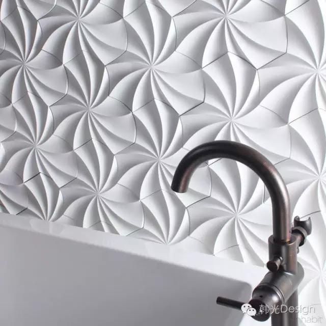 inhabit公司設計的Kaleidoscope(萬花筒)牆磚