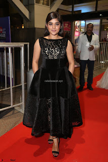 Niveda Thomas Black Sleeveless Cute Dress at 64th Jio Filmfare Awards South 2017 ~  Exclusive 068.JPG