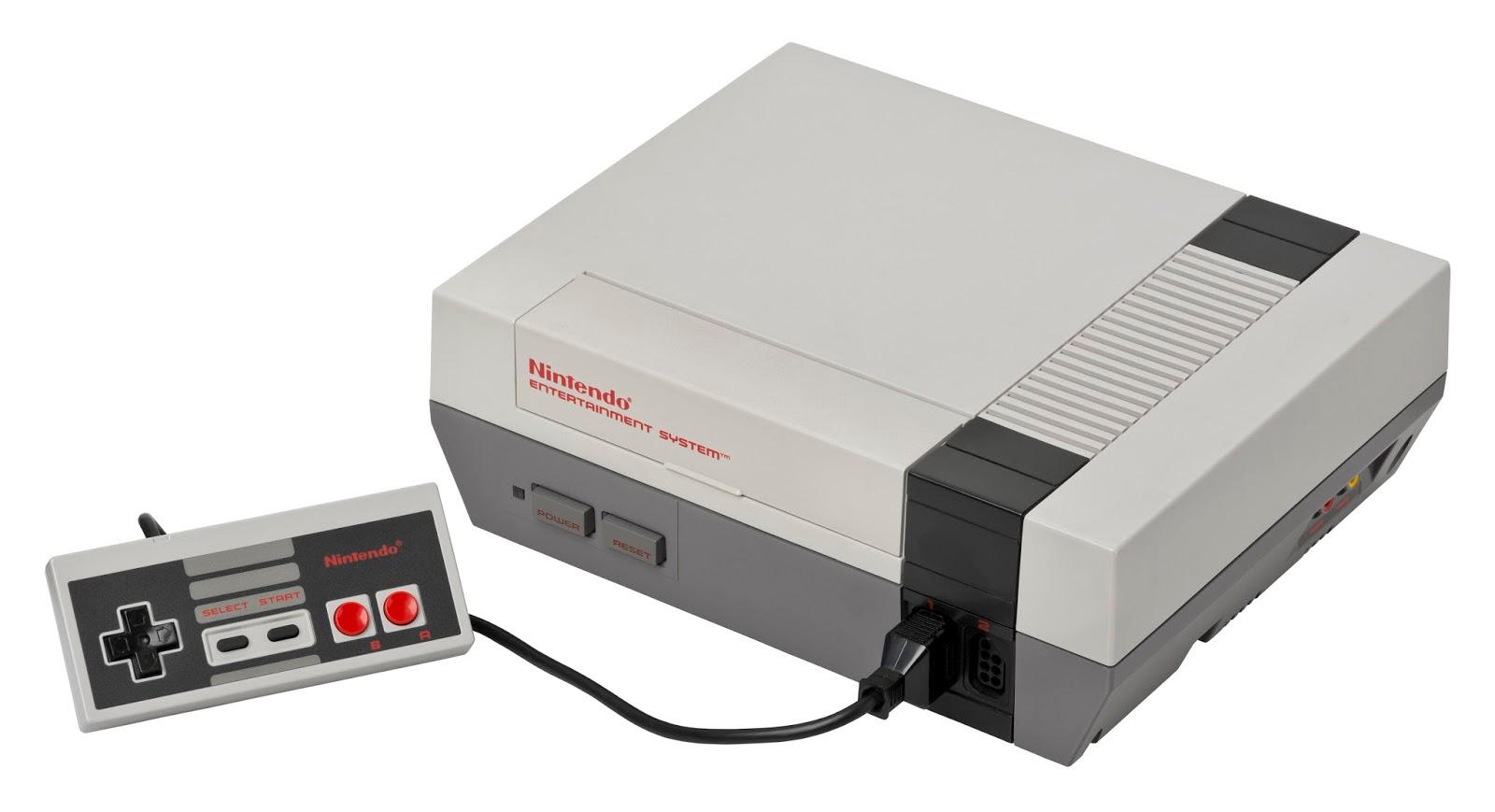 Imagen con la consola NES, Nintendo Entertainment System, 1985