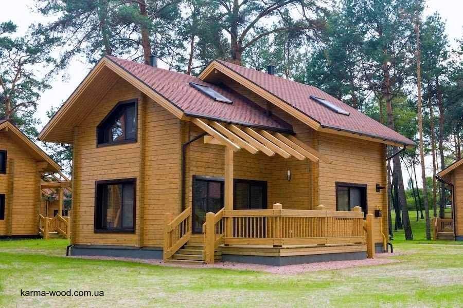 Arquitectura de casas las casas residenciales hechas de - Casas de madera natural ...
