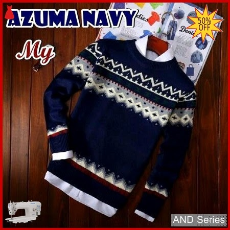 AND298 Sweater Pria Azuma Biru Navy BMGShop