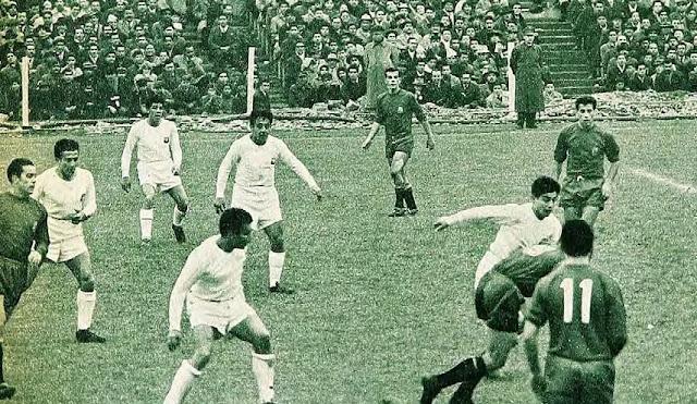 Chile y España en partido amistoso, 17 de julio de 1960