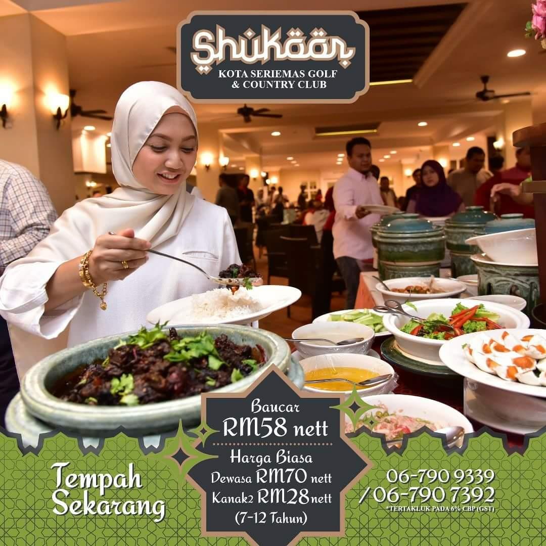 Menu special di Bufet Ramadhan Kota Seriemas Golf & Country Club