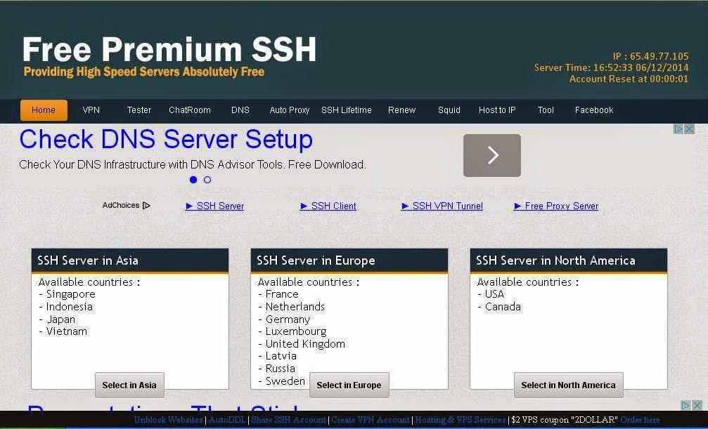 Cara Membuat Akun SSH Gratis di Fast SSH