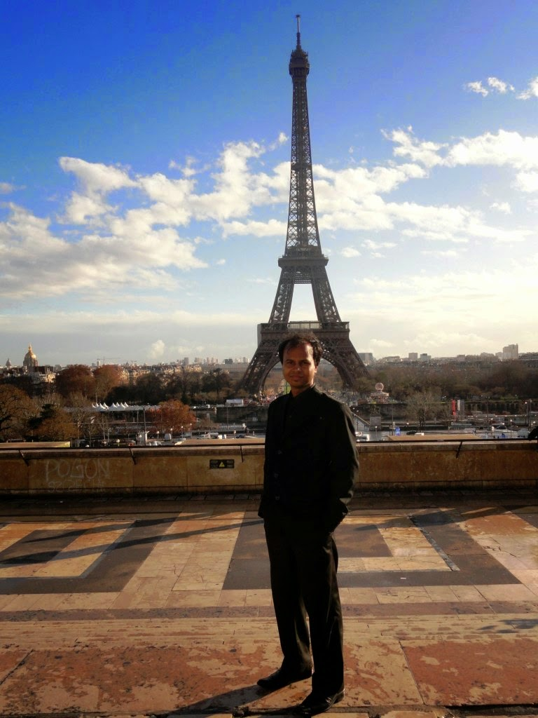 In Front of Eiffel Tower, Paris, France