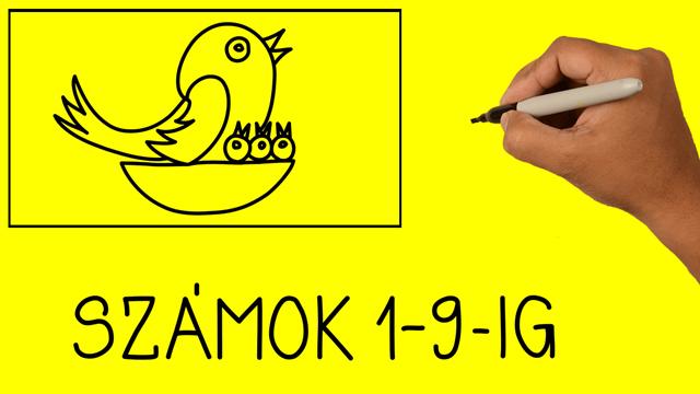 Hogyan készítsünk számokból rajzot: SZÁMOK 1-9-ig