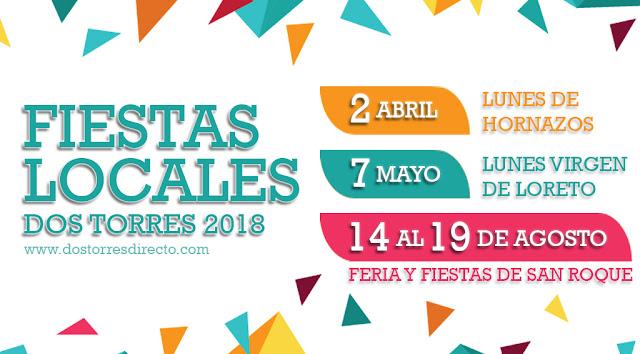 Fiestas Locales Dos Torres 2018