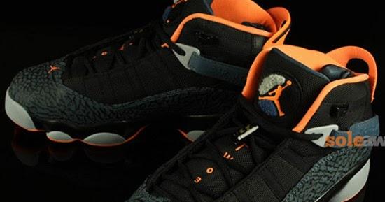 c21f44e13b992a ajordanxi Your  1 Source For Sneaker Release Dates  Jordan 6 Rings Black Total  Orange-Slate-Wolf Grey January 2014