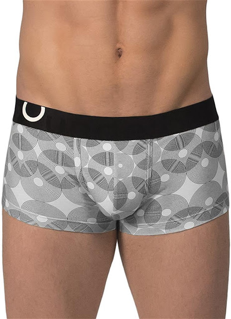 Rounderbum Lift Trunk Geometric Underwear Black Gayrado Online Shop