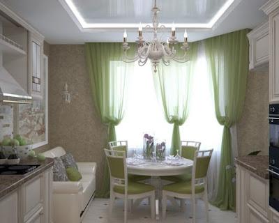elegant kitchen bay window curtain ideas