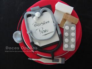 Bolo de aniversário Enfermeiro doces opções bragança