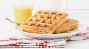 Waffles de Naranja, con Sirope
